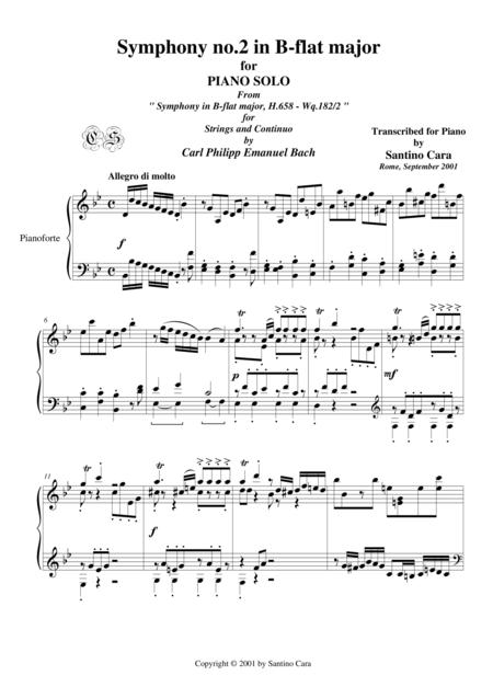 Bach C.P.E. Symphony No.2 in B-flat major - Piano version