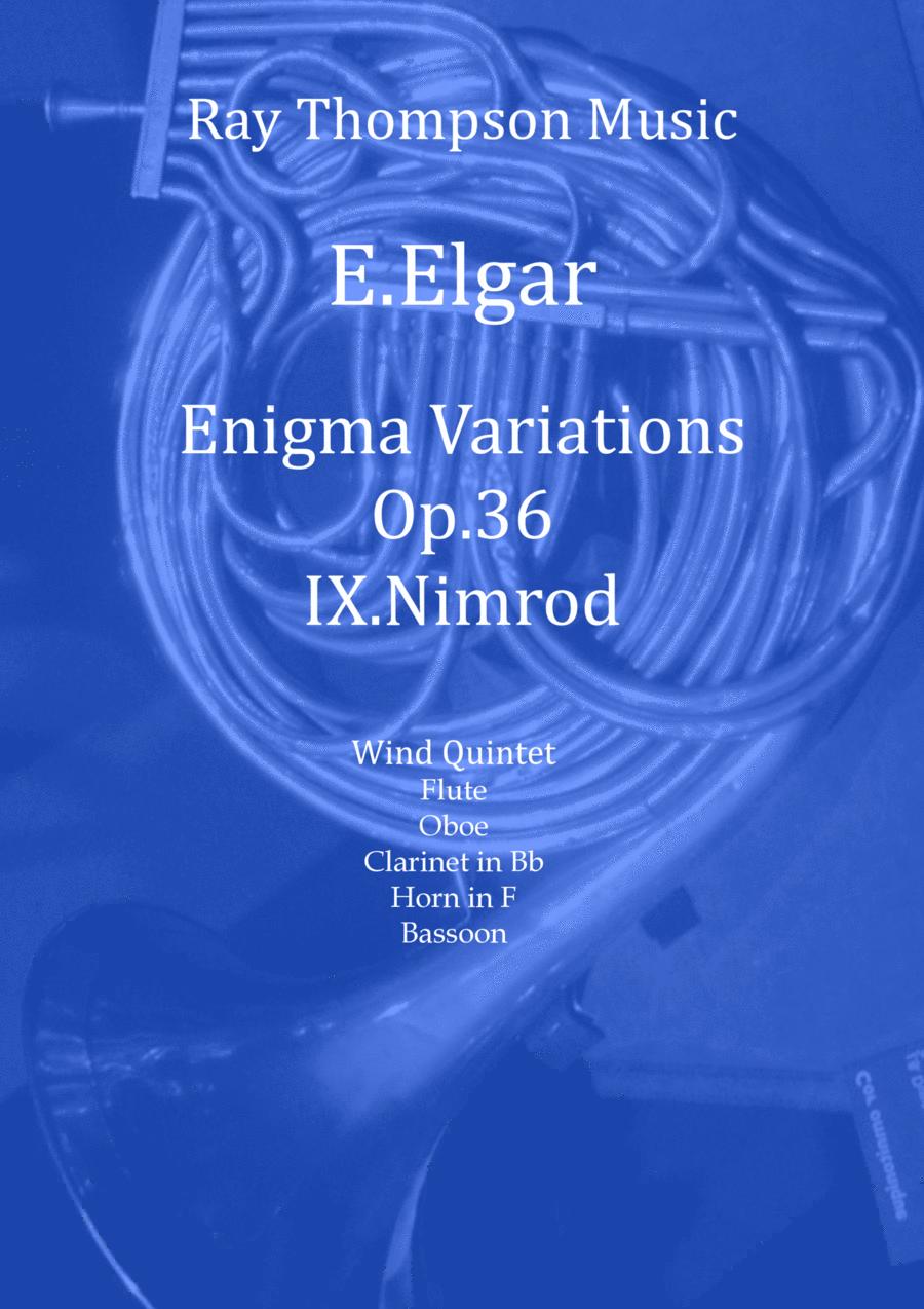 Elgar: Nimrod (Variation 9 from Enigma Variations Op.36)  arranged wind quintet