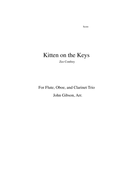 Kitten on the Keys for flute, oboe, and clarinet trio