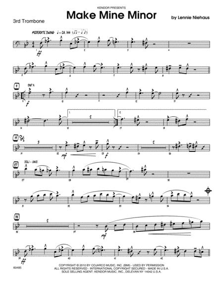Make Mine Minor - 3rd Trombone