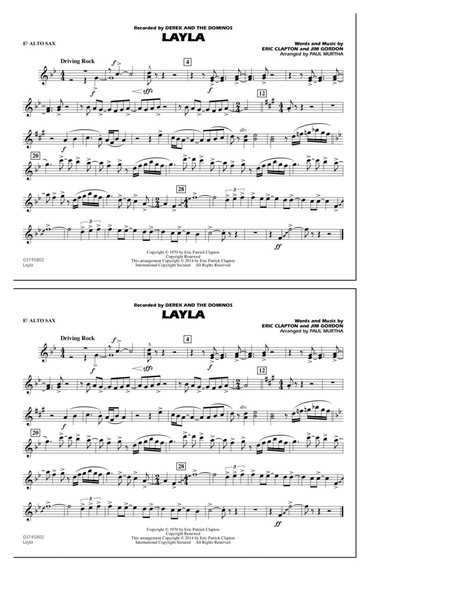 Layla - Eb Alto Sax
