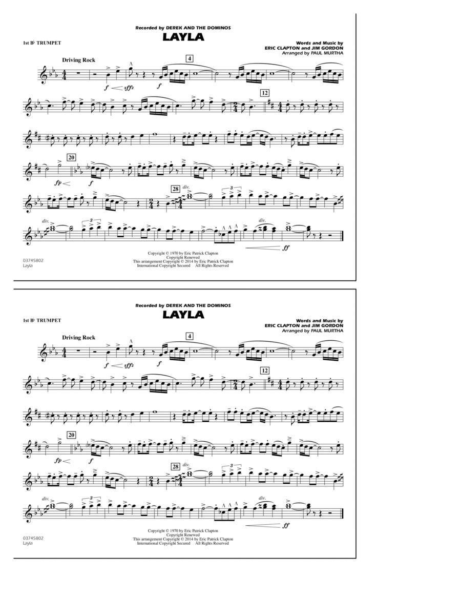 Layla - 1st Bb Trumpet