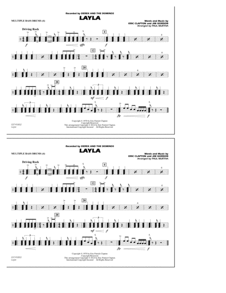 Layla - Multiple Bass Drums