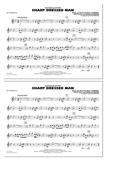 Sharp Dressed Man - Bb Tenor Sax