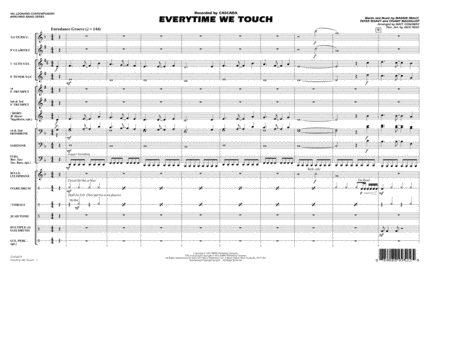 Everytime We Touch - Conductor Score (Full Score)