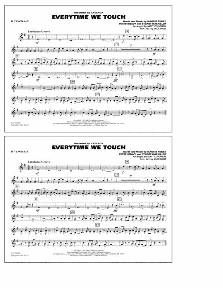 Everytime We Touch - Bb Tenor Sax