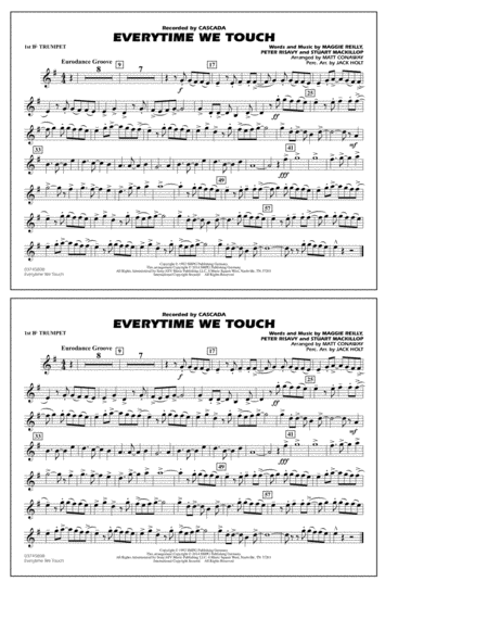 Everytime We Touch - 1st Bb Trumpet