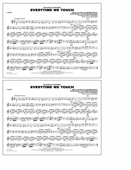 Everytime We Touch - F Horn