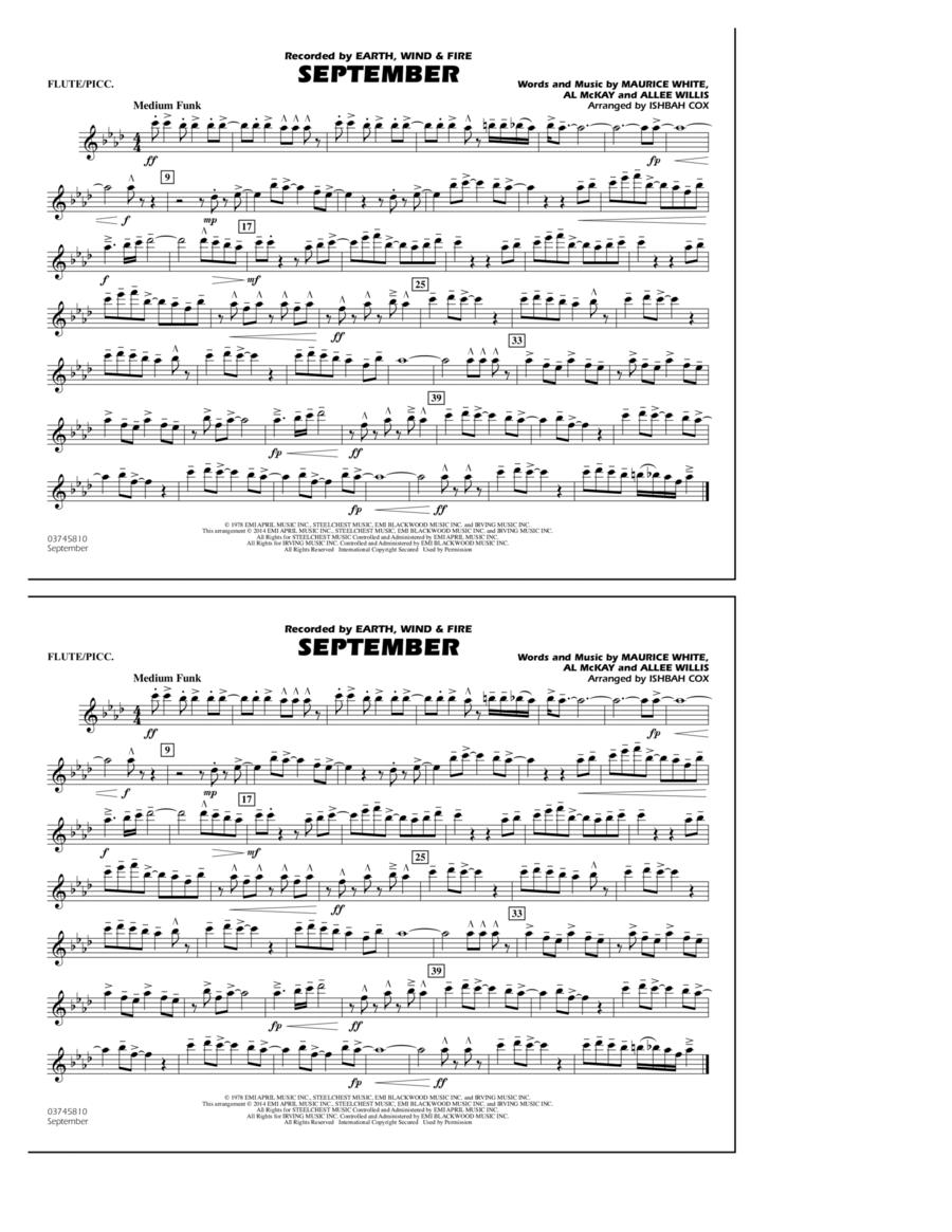 September - Flute/Piccolo