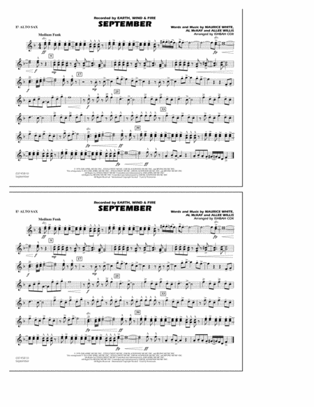 September - Eb Alto Sax