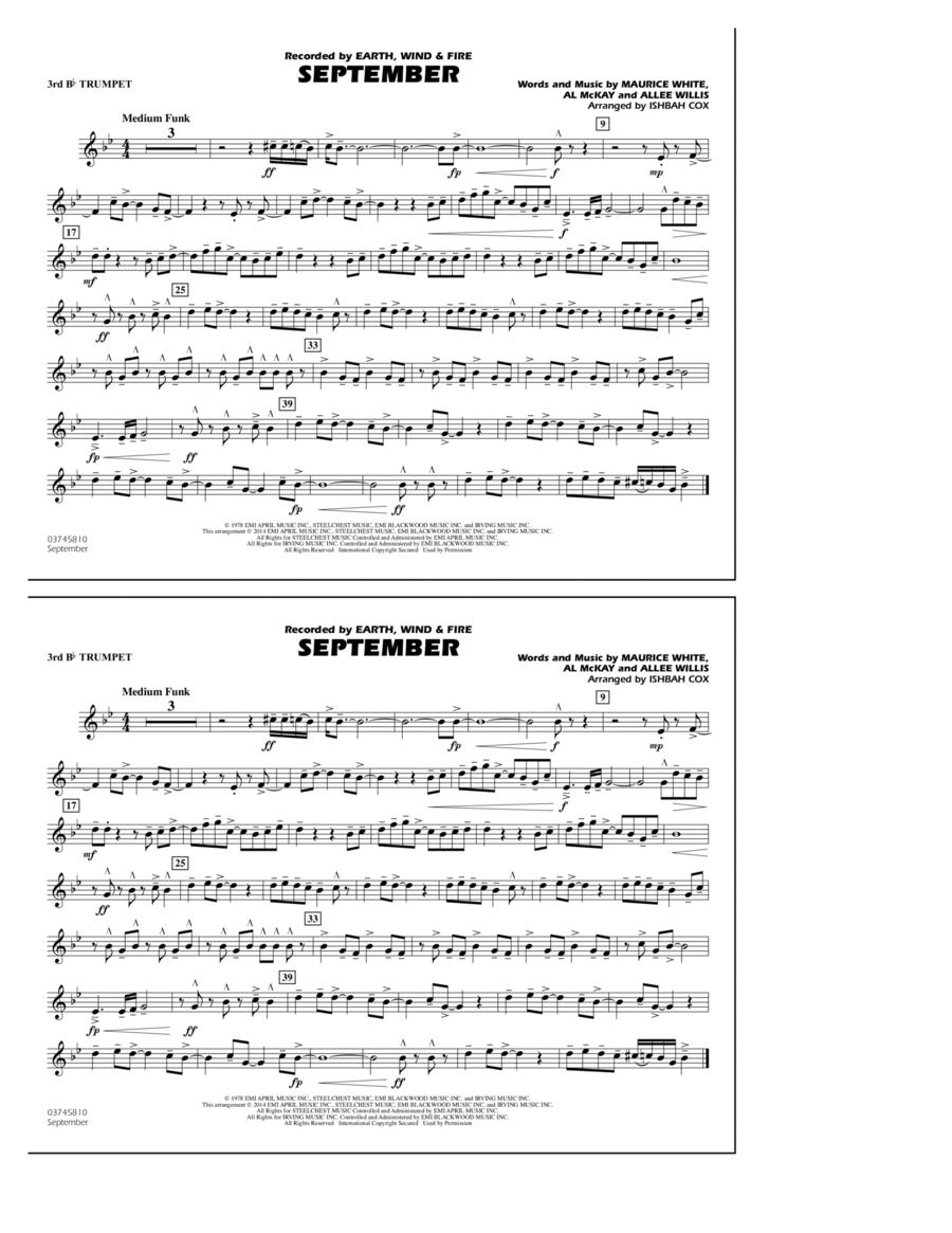September - 3rd Bb Trumpet