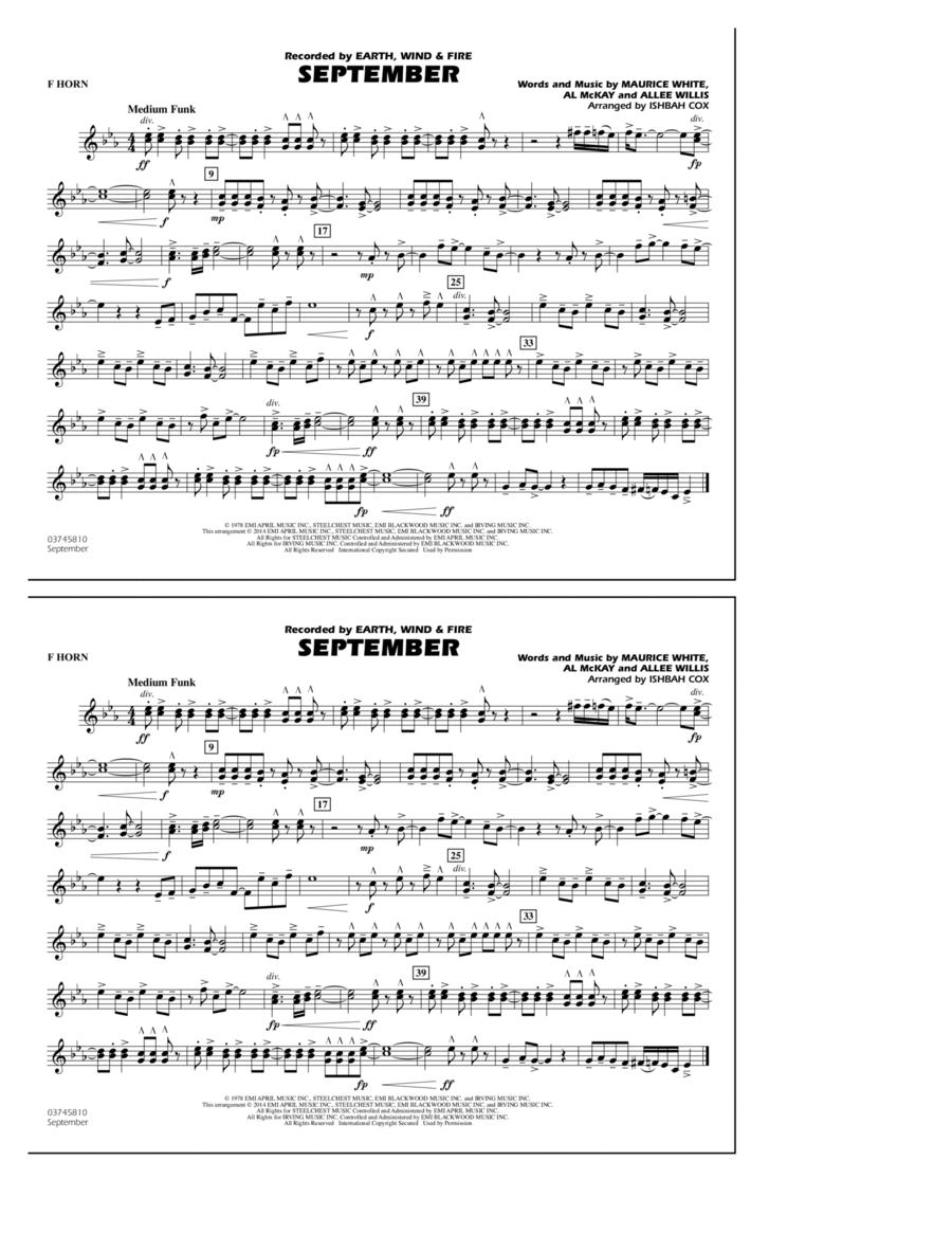 September - F Horn