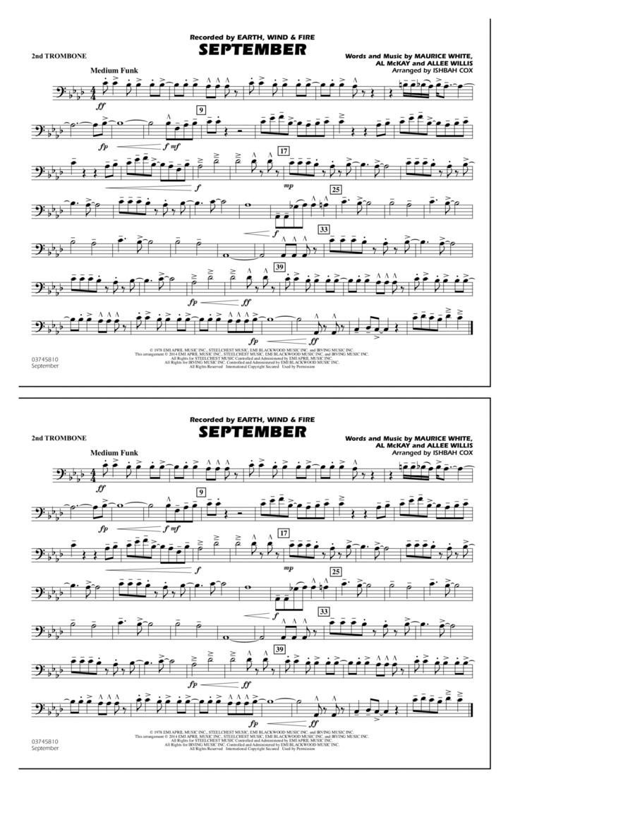 September - 2nd Trombone