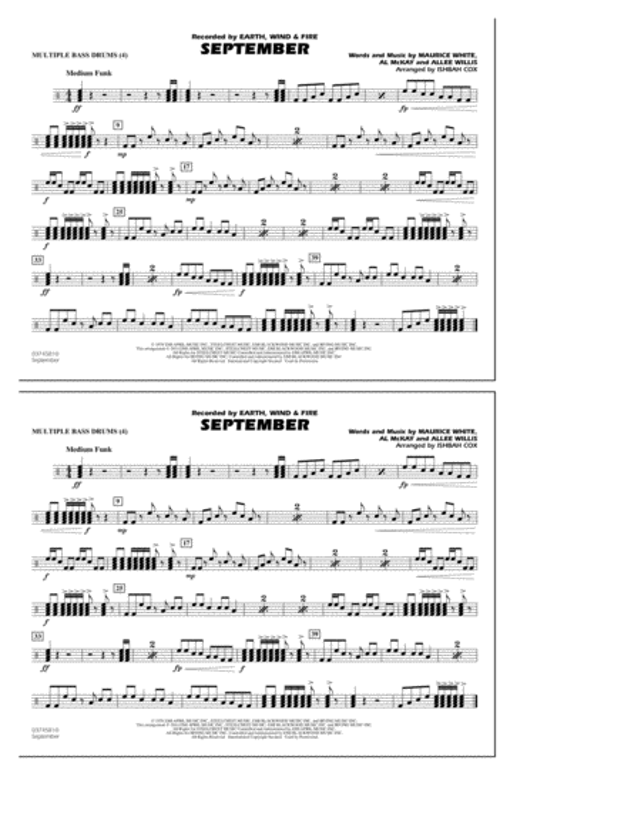 September - Multiple Bass Drums