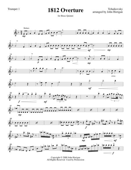 1812 Overture Trumpet 1 (for brass quintet)
