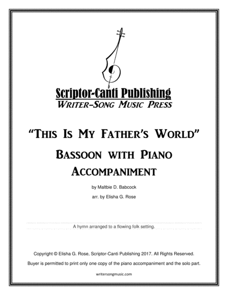 This Is My Father's World - Bassoon