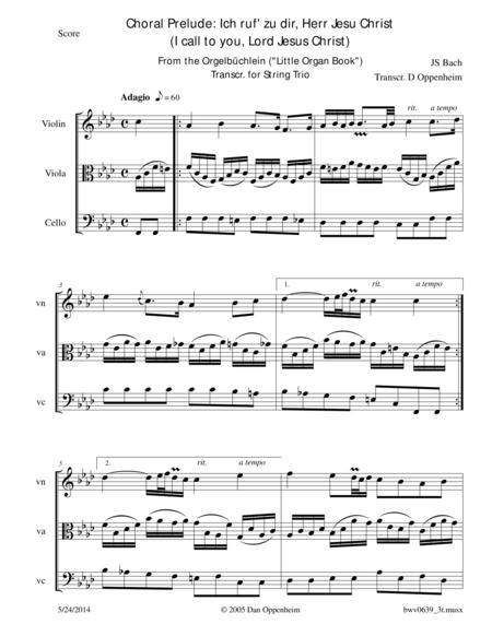 Bach: Prelude BWV 639 Ich ruf' zu dir, Herr Jesu Christ (I call to you, Lord Jesus Christ)