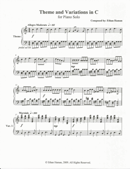 Theme and Variations in C