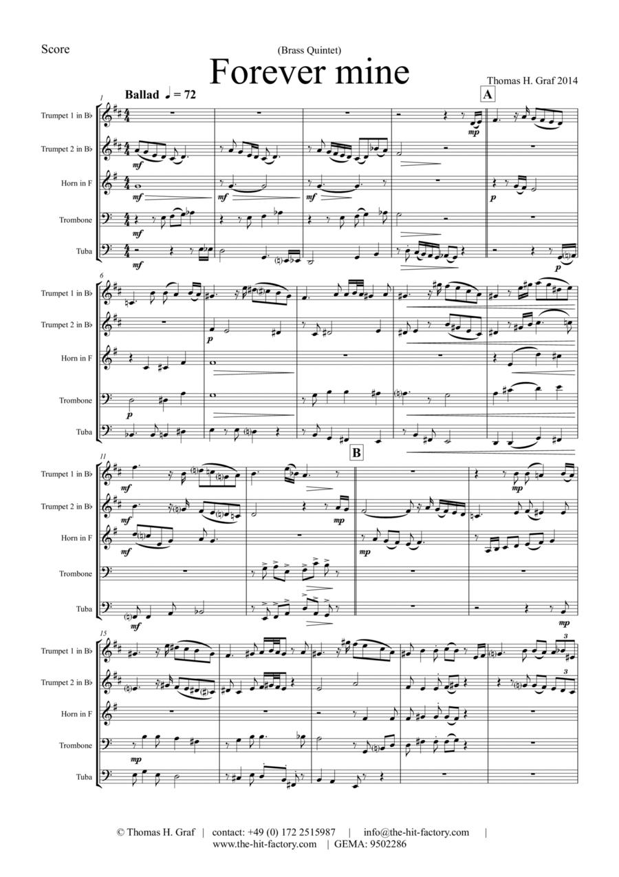 Forever Mine - Brass Quintet