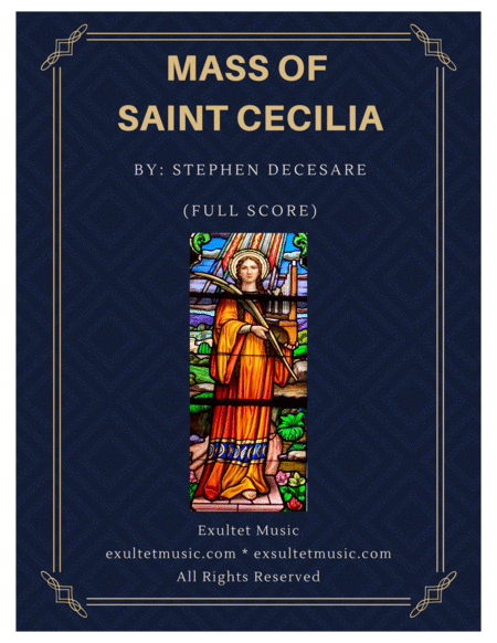 Mass of Saint Cecilia (Full Score and Parts)
