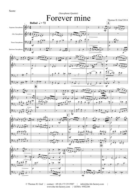 Forever Mine - Sax Quartet