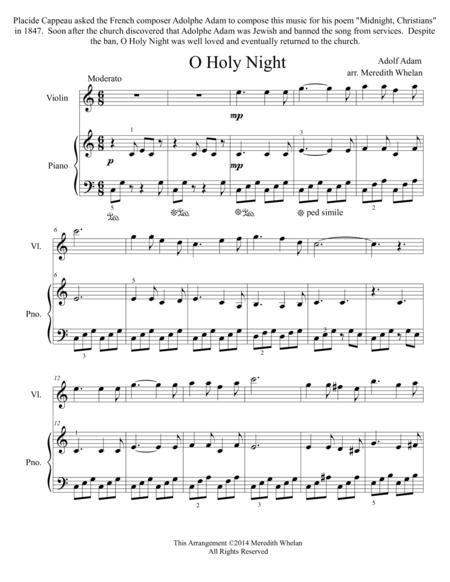 Christmas Duets for Violin & Piano:  O Holy Night