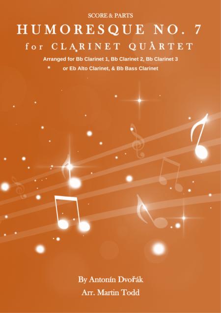 Humoresque No. 7 for Clarinet Quartet