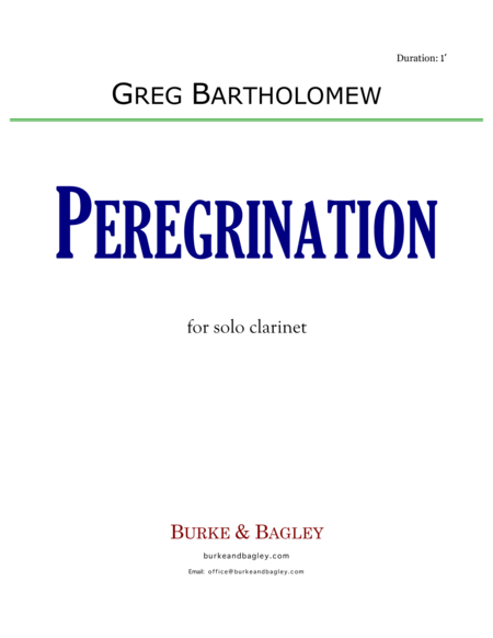 Peregrination for Solo Clarinet