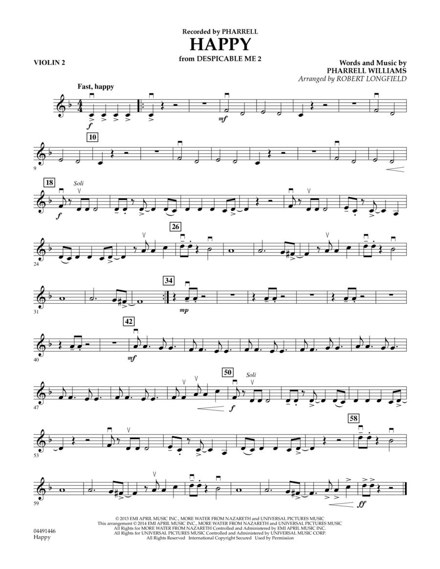 Happy (from Despicable Me 2) - Violin 2