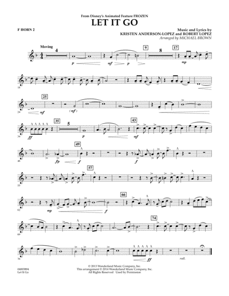 Let It Go - F Horn 2