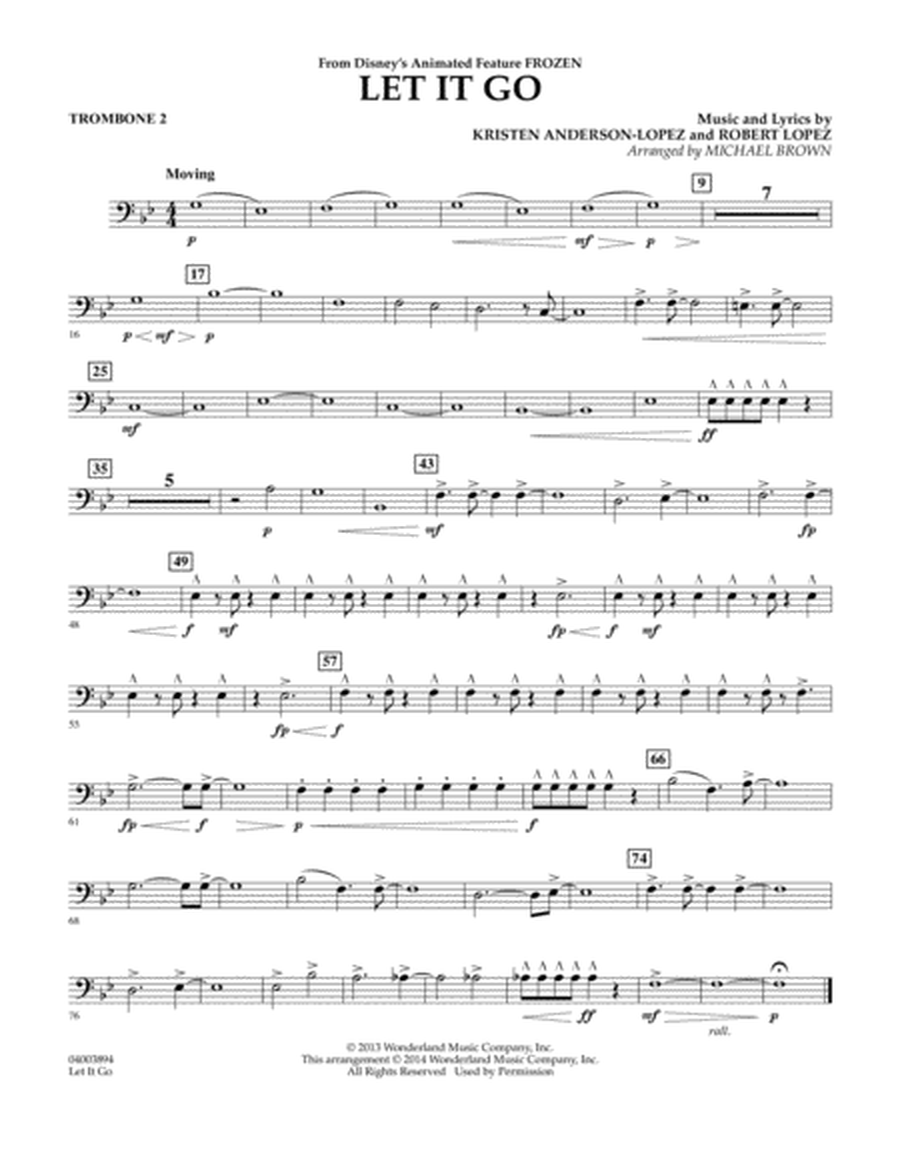 Let It Go - Trombone 2