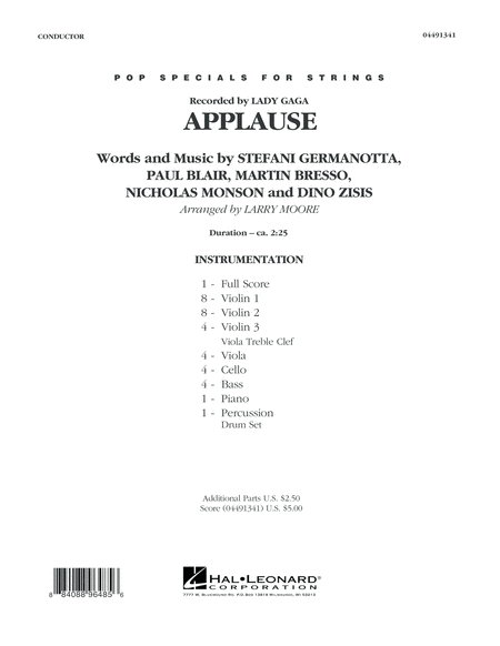 Applause - Conductor Score (Full Score)