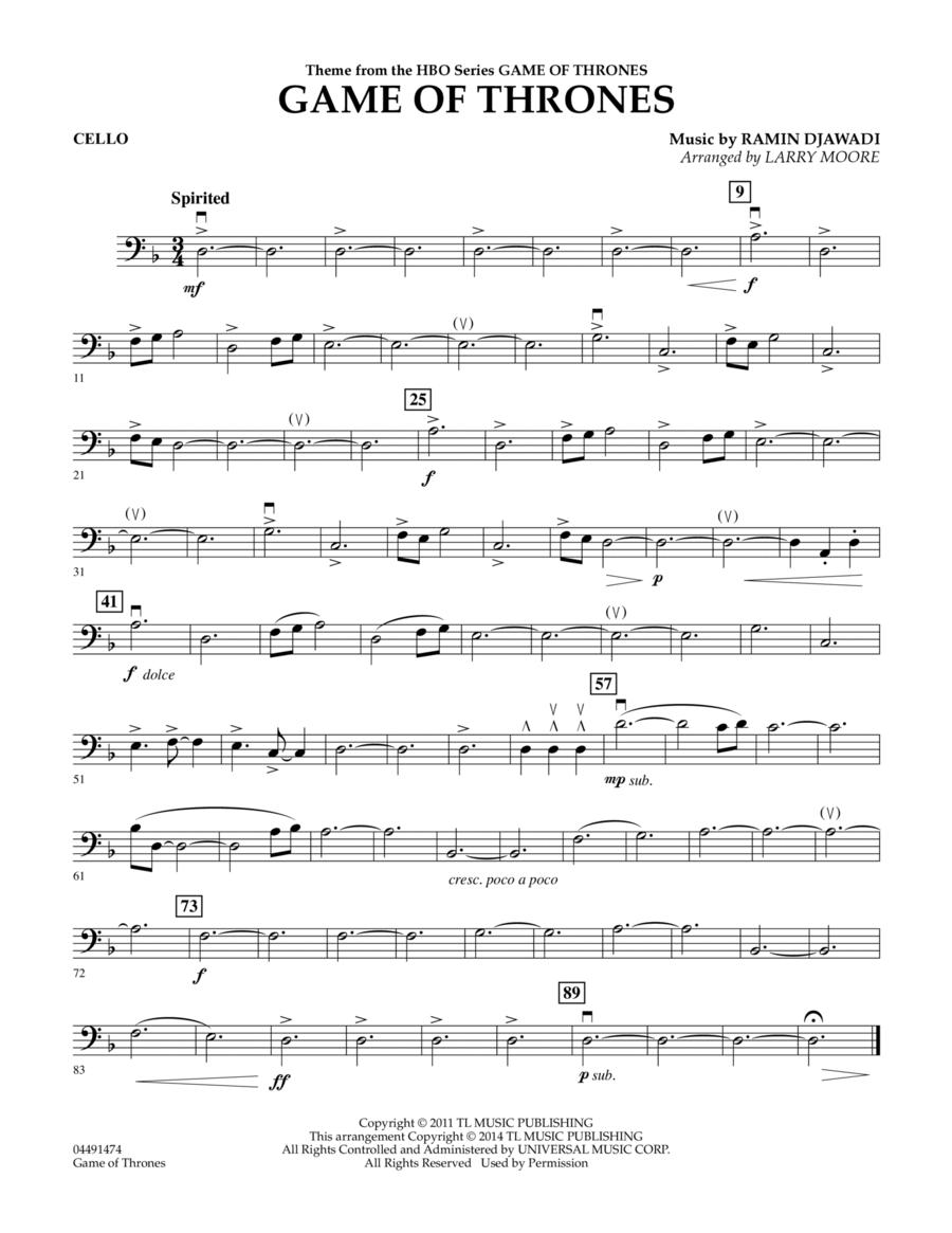 Game of Thrones - Cello