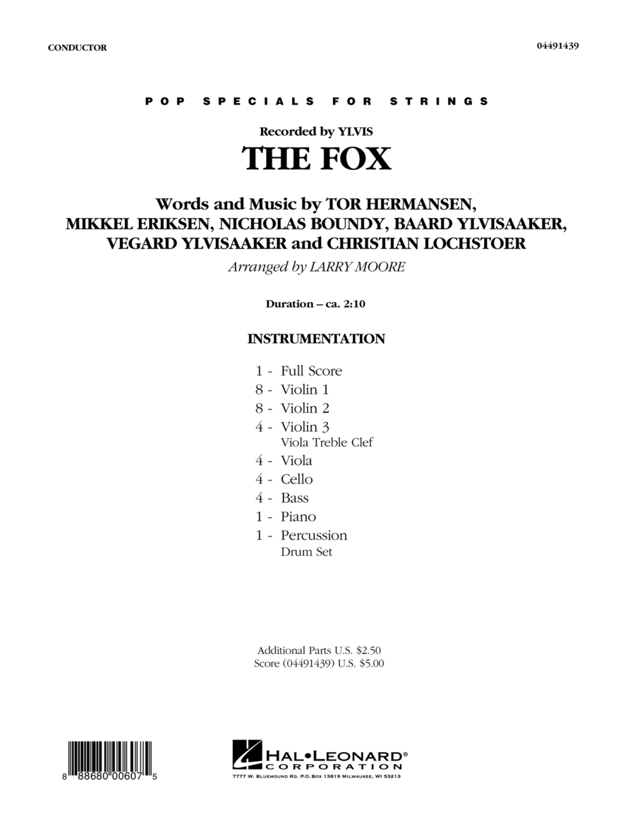 The Fox (What Does the Fox Say?) - Conductor Score (Full Score)