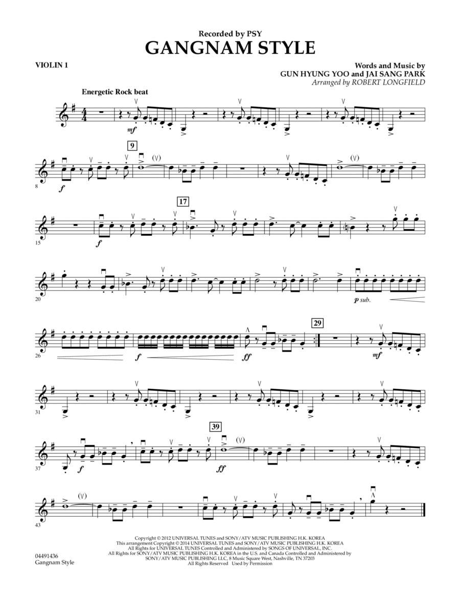 Gangnam Style - Violin 1