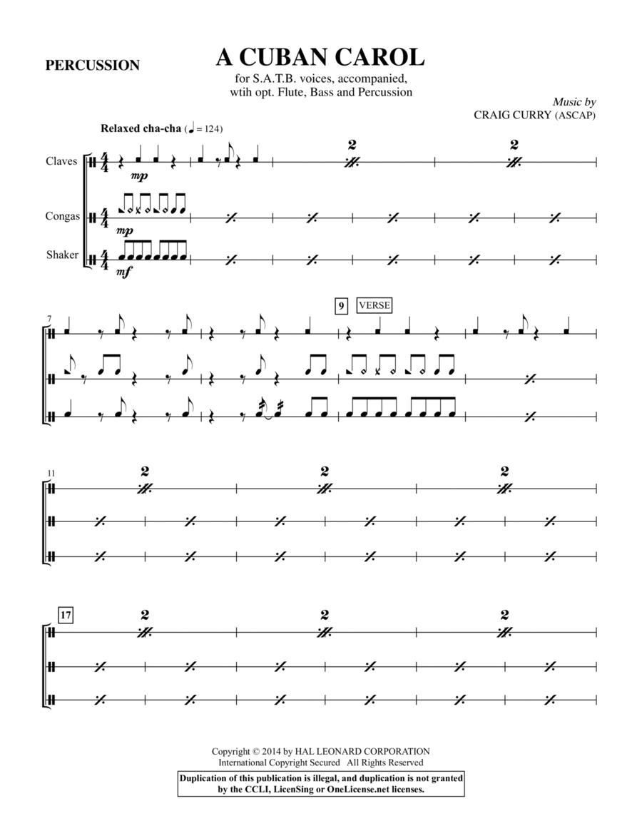 A Cuban Carol - Percussion