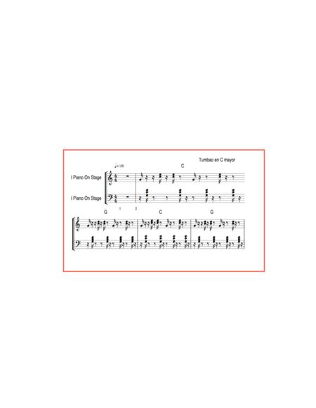Tumbao piano merengue en C