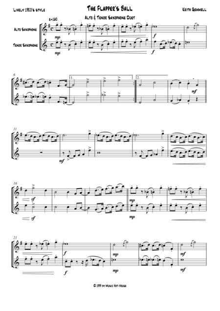 The Flapper's Ball: Alto & Tenor Saxophone Duet