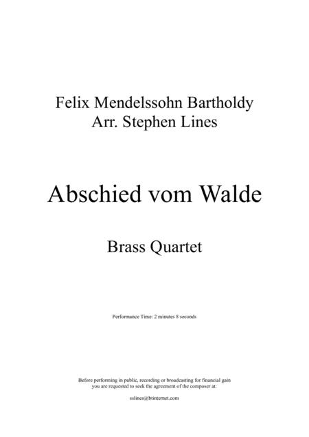 Abshied Vom Walde - Brass Quartet