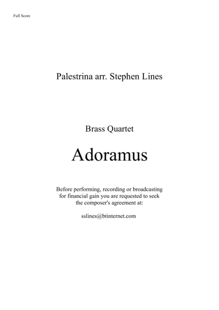 Adoramus - Brass Quartet