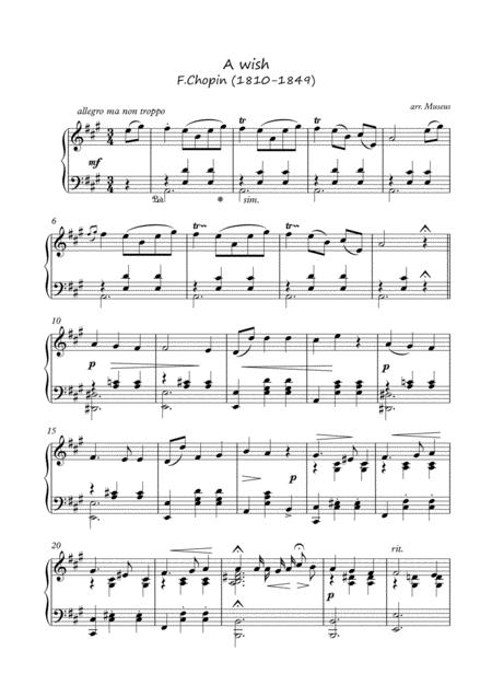 A Wish by F.Chopin