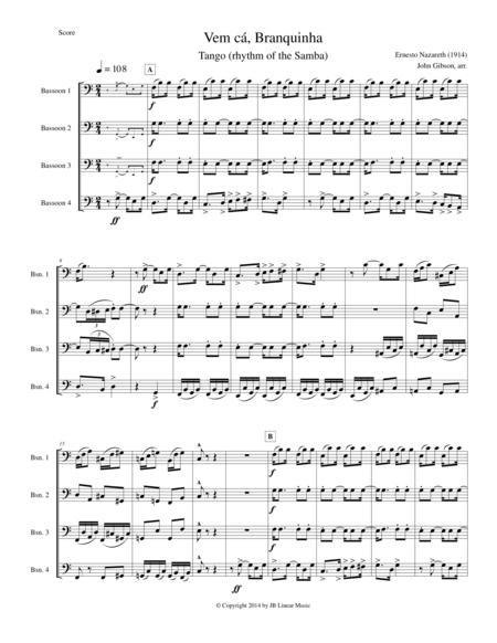 Bassoon quartet - Tango by Ernesto Nazareth