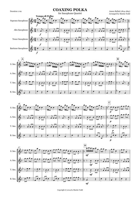 Coaxing Polka for Saxophone Quartet