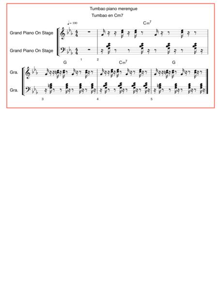 Tumbao piano merengue en C m7