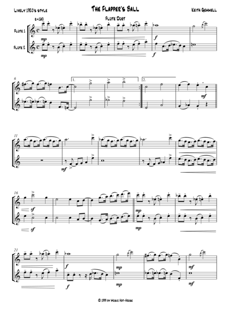 The Flapper's Ball: Flute Duet