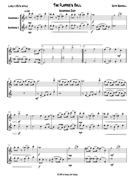 The Flapper's Ball: Saxophone Duet (2 Altos or 2 Tenors)