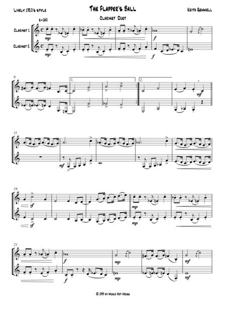 The Flapper's Ball: Clarinet Duet