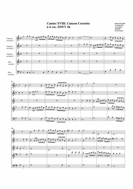 Canzon cornetto SSWV 56