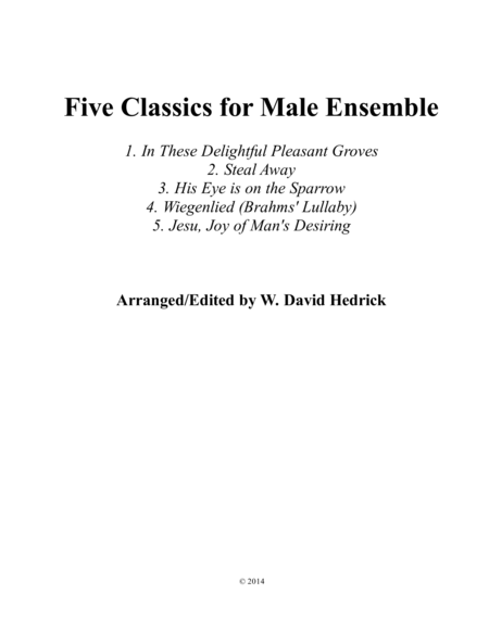 Five Classics for Male Ensemble