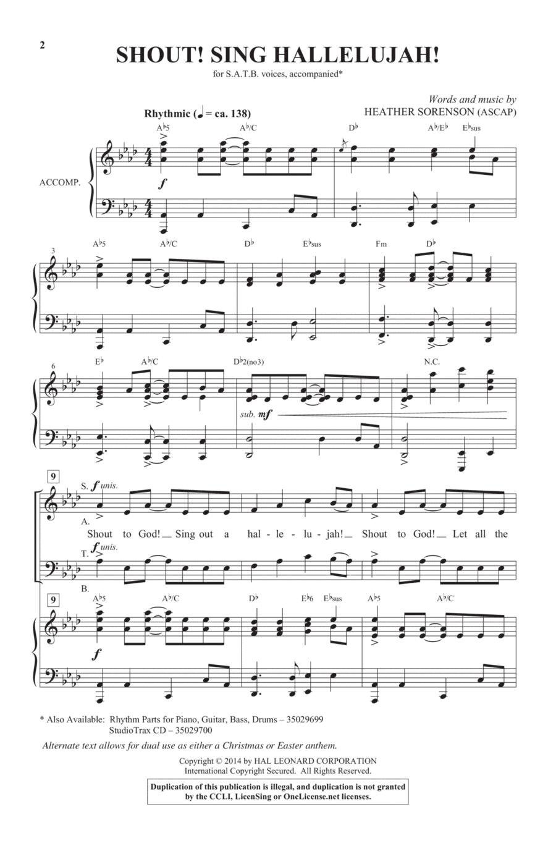 Shout! Sing Hallelujah